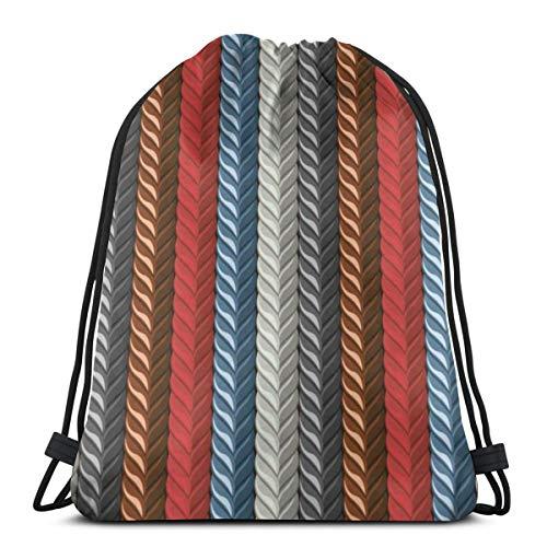 Nonebrand - Bolsa de viaje con cordón para hombre y mujer, diseño de piel