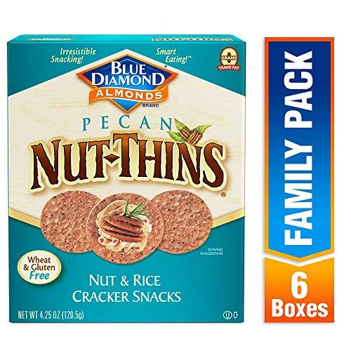Blue Diamond Pecan Nut-Thins Cracker Crisps, 4.25 Ounce (Pack of 6)