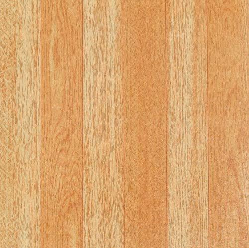 Caja de 20 baldosas de vinilo autoadhesivas (franjas de madera)