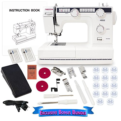 Necchi HD22 Mechanical Sewing Machine with Exclusive Bonus Bundle