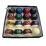 TX GIRL 57.2mm Mármol Billar Bolas De Piscina Conjunto Completo Bolas De Billar Bolas De Piscina Conjunto 2 Bolas De 1/4 Pulgadas De Nueve Bola (Color : Marble Balls)