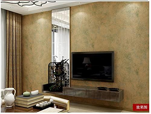 Papel Pintado No Tejido Arte Moderno Color liso de estilo industrial retro 3D Papeles Muro Decoración de Pared para TV Telón de Fondo Dormitorio Hotel marrón