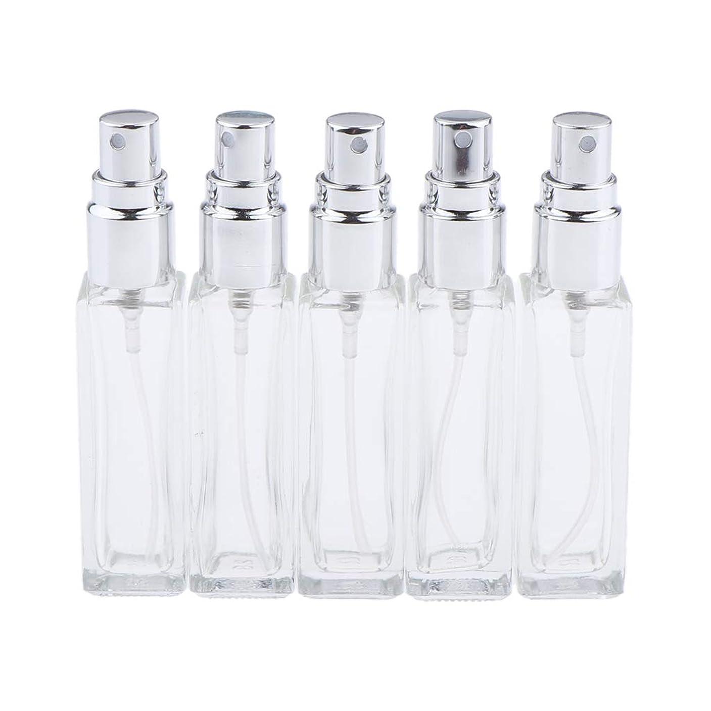 教室知り合い以上Sharplace 香水ボトル ガラス コスメ 詰替え容器 5本 3色選べ - シルバー