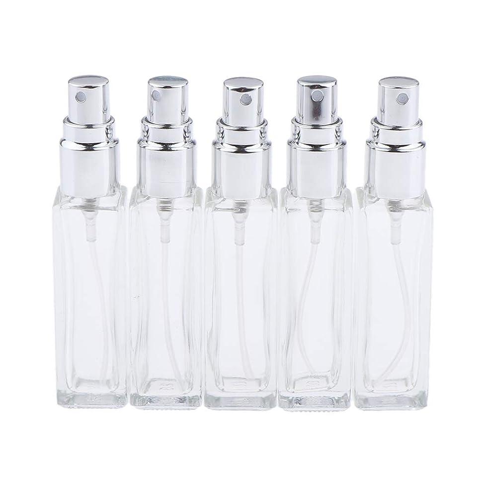 お勧め前書き計算可能Sharplace 香水ボトル ガラス コスメ 詰替え容器 5本 3色選べ - シルバー