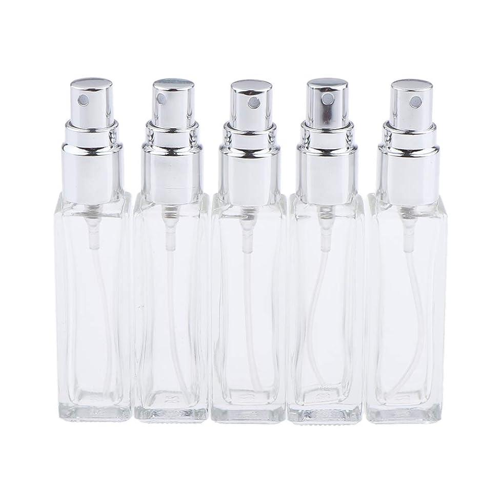 ポンプ曲上げるSharplace 香水ボトル ガラス コスメ 詰替え容器 5本 3色選べ - シルバー