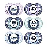 Tommee Tippee Succhietti Anytime, 18-36mesi, Modelli /Colori assortiti, 6 pezzi - 60 g, Multicolore (Panda)