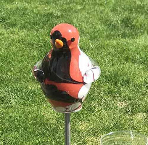 Regenmesser Vogel etna Glas H 132 cm Gartenstecker Niederschlagsmesser Gartenstele