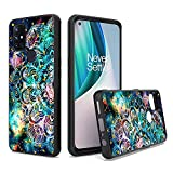 UNC Pro for OnePlus 1+ Nord N10 5G Case, Mandala Galaxy Gold Foil Embedded Hybrid Cell Phone Case for Women Girl, Shockproof Bumper Cover