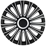 Alpena 59915 Le Mans Black-Silver Wheel Cover Kit - 15-Inches - Pack of 4