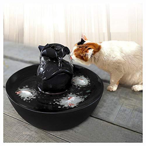 IMDOU Automatische drinkfontein voor katten en honden – keramische automatische elektrische waterschalen met bijzonder stille waterpomp maak je katten eerder zoals, zwart