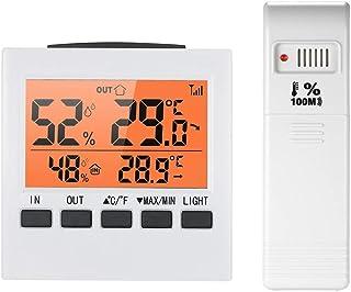 hkwshop Higrómetro para Interior LCD Digital INALÁMBRICACIÓN INTERNEZ Interior/OUTTROS HYGRÓMÉTICO Temperatura Temperatura...