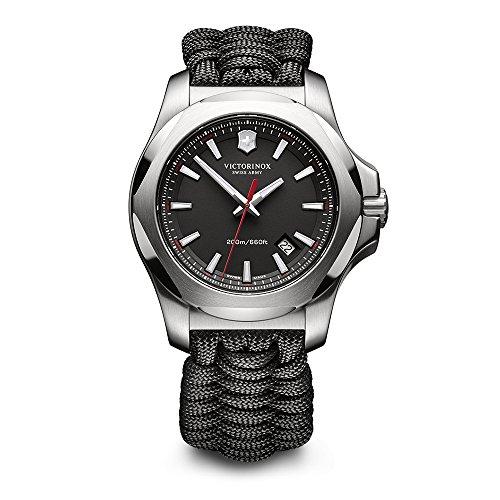 Victorinox Swiss Army I.N.O.X. Paracord Textile Watch, 43mm, Black