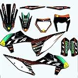 Bicicleta Motocross For KTM SX EXC SXF XC XCF 2020 Pegatinas motocrós Gráficos Fondos Calcomanías for KTM SXF XCF 125 150 250 350 450 Full Set (Color : Blank)