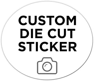 """150 Oval Custom Die Cut Stickers 7"""" x 6"""" for Laptops, Windows, Cell Phones, Cars. Upload Your own Image, Logo, or Design…"""