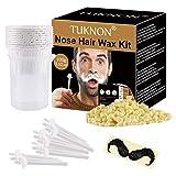 Nose Wax, Nose Wax Kit, Kit Depilación Nariz, Kit De Cera Nasal, Kits de Depilación con Cera, Nose Hair Removal Wax Kit, Elimina el vello nasal de forma rápida e indolora para hombres y mujeres, 100g