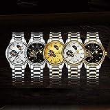 WATCH Reloj de pulsera, Reloj de cuarzo, Hombres de negocios Mecánico Simple Asistencia escolar Viajero Resistente al agua Lujo con caja Reloj de pulsera,-Oro libre