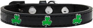 Mirage Pet Products 631-21 BK16 Shamrock Widget Dog Collar, Size 16, Black