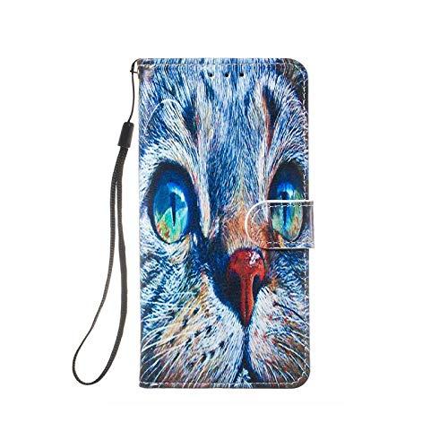 Funda con tapa para Samsung Galaxy S10 5G S10E S9 S8 Plus S7 Edge J3 J510 J330 J530 J730 Note 9-Blue Cat-for A9 2018 SM-A920F