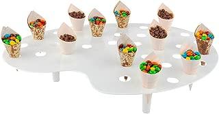 Mini Cone Stand - Palette Display Stand - White Premium Plastic - 35 Slots - 4ct Box - Restaurantware