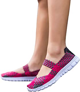 feelingood Women's Shoes Slip-On Light Weight Elastic Trainer Sports Water Shoes Sneakers Summer