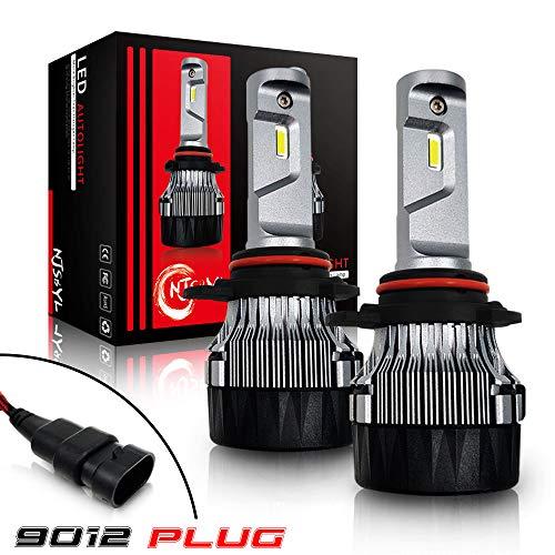 KaTur 9012 LED Fari Lampadine Super Bright CREE Chips 16000LM Kit di conversione del Faro all-in-One LED Completo 60W 6500K Xenon White 3 Anni di Garanzia
