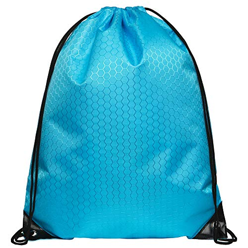 Cinch Bags Drawstring Backpack-1,4,8,10 Pack Not See-through Pull String Bag-Football Pattern