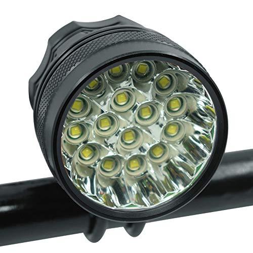 KIUY Luz de Bicicleta, luz Delantera de Bicicleta 13 * XML-T6 LED Faro de Bicicleta 20000 lúmenes Luces de conducción Nocturna de Seguridad Lámpara de Cabeza de Ciclismo