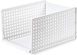 Boîte De Rangement Armoire Placard De Rangement Panier Organisateur En Plastique Avec Couches Partition L Taille Cuisine É...