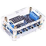PEMENOL Timer Delay Relay DC 5V 12V 24V On Off Timer Switch Programmable Trigger Cycle Dual MOS Delay Control Board with Digital Tube Display and Protective Shell for Smart Home, Automatic Control