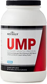Beverly International UMP Protein Powder 30 servings, Vanilla. Unique whey-casein ratio builds lean muscle and burns fat for hours. Easy to digest. No bloat. (32.8 oz) 2lb .8 oz