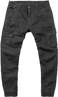 3e6128e82ab4 Rcool Pantaloni Uomo Lunghi Cargo con Tasche Laterali Tattici Militari  Pantalone da Lavoro con Cerniera Tinta