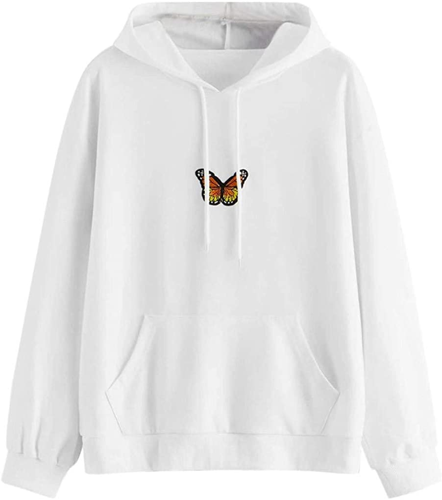 Womens Cute Hoodies, Womens Cute Graphic Long Sleeve Hoodie and Sweatshirt Casual Loose Crewneck Pullover Tops
