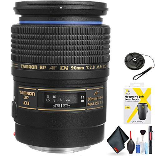 Tamron SP 90mm f/2.8 Di Macro Autofocus Lens for Canon EOS for Canon EF Mount + Accessories (International Model)
