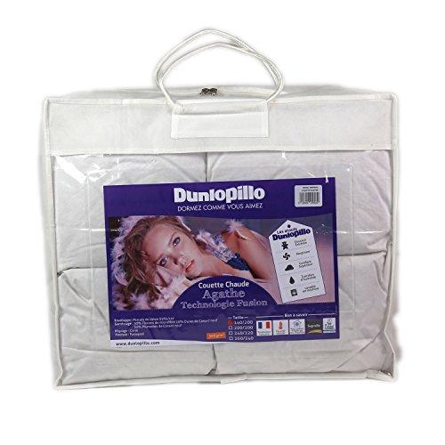 Dunlopillo COFGDH140200DPO1 Fusion Funda de edredón 140 x 200 cm, Blanco