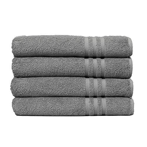 ECO TOWELS Premium Hotel & Spa Bath Towel Cotton, 30' x 56',Set of 4 (White)
