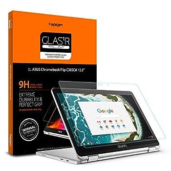 Spigen Tempered Glass Screen Protector Designed for ONLY Asus Chromebook Flip C302CA  12.5 inch  [9H Hardness]