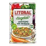 LITORAL Vegetal Lentejas con Verduras - Plato Preparado de Lentejas con Verduras Sin Gluten - 430g