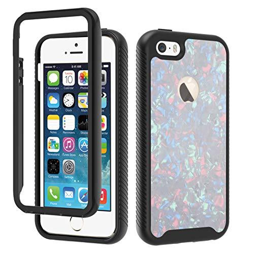 HICYCT Funda para iPhone 5 / 5S / SE, Ultra-Delgado Ligero 3 en 1 Carcasa Combinada PC Dura y Suave TPU Silicona Bumper Anti-Arañazos Antigolpes Caso para iPhone 5 / 5S / SE