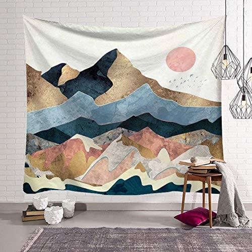 NAIDELI Pattern Mandala Wall Hanging Tapestry Travel Camping Mat Sunrise Oil Painting Pattern Yoga Pad Sleeping Carpet Beach Blanket