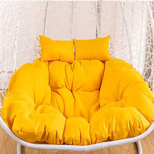 DL&VE Swing Chair Cushion,Round Fluffy Wicker Rattan Egg Chair Cushion,Soft Garden Terrace Hanging Chair Cushions,Sustainable Chair Pad