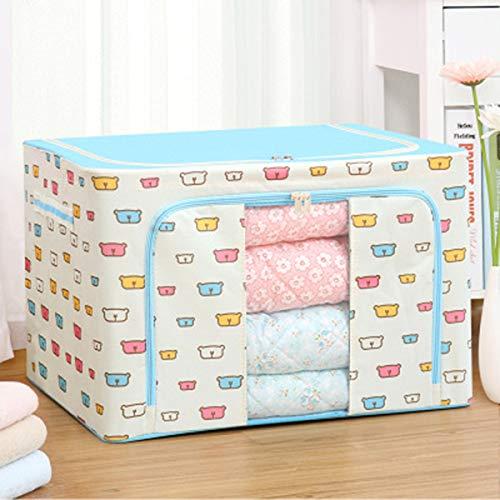 WZDTNL Förvaringsväska för kläder med stor kapacitet, hållbar oxfordtyg förvaringsbox stålram undersäng förvaringsväska för kläder säng