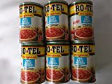 Rotel Ro Tel Original NO SALT ADDED Diced Tomatoes & Green Chilies 10 oz Cans (6 ct)
