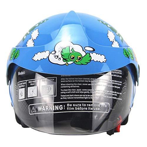 Berrd Casco da moto per bambini Moto per bambini Casco da ragazzo per bambina Casco da moto 2-8 anni blu