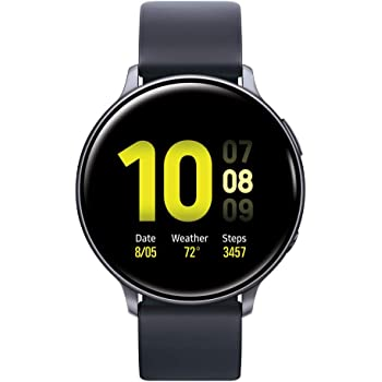 Samsung Galaxy Watch Active2 W/ Enhanced Sleep Tracking Analysis, Auto Workout Tracking, and Pace Coaching (44mm), Aqua Black - US Version with Warranty (Renewed)