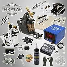 Complete Tattoo Kit Inkstar Journeyman C Machine Gun Power Supply Radiant Colors Pro Black Ink