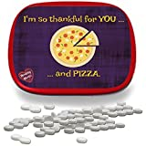 I'm Thankful for You and Pizza Mints – Funny Gag Gifts for Adults Weird Gifts White Elephant Ideas Gifts for Kids Wintergreen Breath Mints Stocking Stuffers for Teens Friend Gift Appreciation Pi