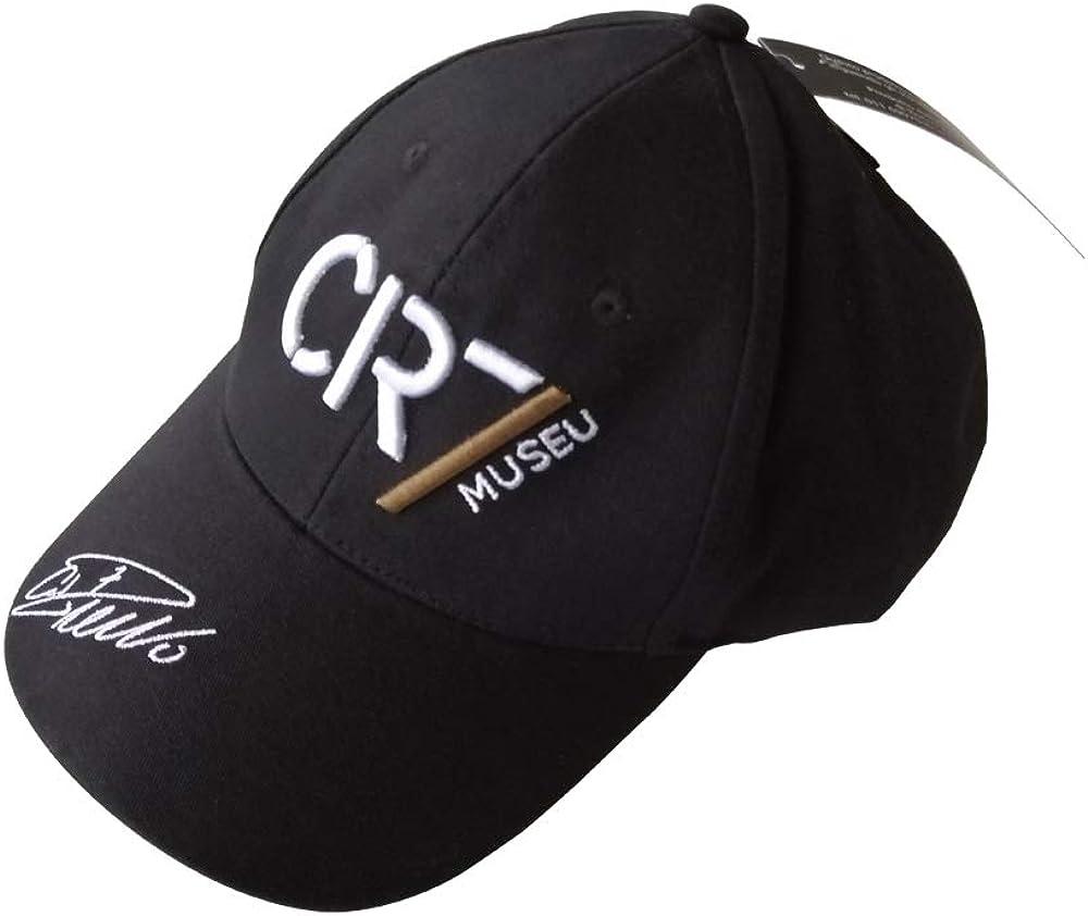 Cr7 museu, cappello ufficiale cristiano ronaldo firma ricamata, limited edition,100% cotone