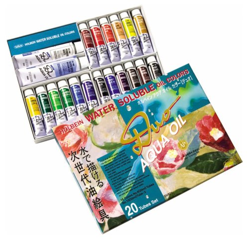 Holbein Duo Aqua Water-Soluble Oil Color Studio Set of 20 20...
