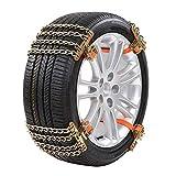 YB-DD Snow Chain, Chaussettes Neige, pneus de Voiture Chaînes de Neige, pneus Elargi Snow Chain Anti-Skid Porte-pneus d'urgence Traction à Roues Cable Ties,S(165mm~195mm)