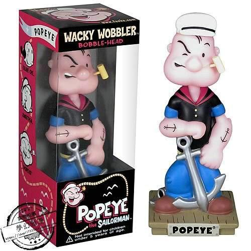 Cartoon Spielzeug schüttelt den Kopf Puppe Popeye Auto Dekoration kreativen Schmuck-Geschenk-15CM
